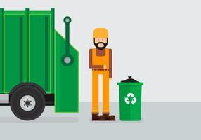 Camion à ordures d'enfouissement vecteur