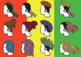 Dose le style de cheveux vecteur