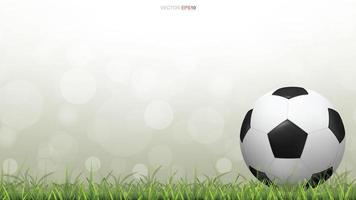 football ou football sur gazon avec bokeh vert vecteur