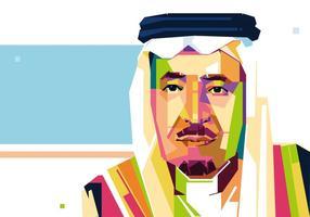 Vecteur roi de l'Arabie saoudite - WPAP