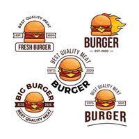 modèle de logo de magasin de hamburgers vecteur
