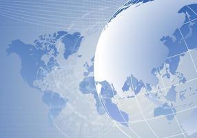 Cartes globe numérique vecteur