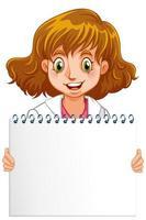 cahier à spirale vierge avec médecin sur blanc