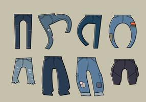 Blue jean free vector
