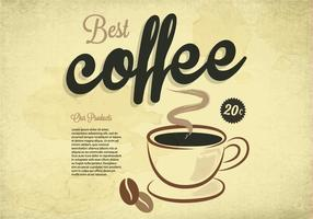 Meilleur vecteur vintage de café