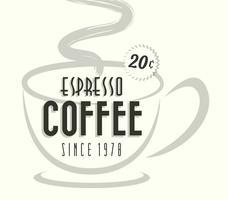 Verre de café à café expresso vecteur