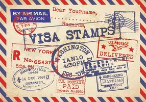 Vecteur ancien de carte postale