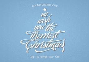Cartes de voeux de vacances en lettrage de Noël Vector