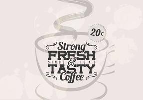 Vecteur vintage de café fort