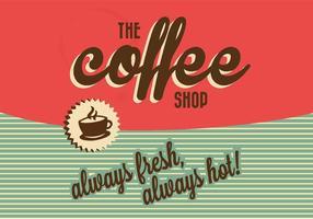 Signe du café vecteur
