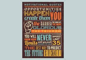 Affiche de motivation vecteur
