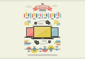 Vecteur classique de collection d'infographies
