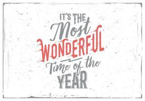 C'est le moment le plus merveilleux de l'année vecteur enneigé