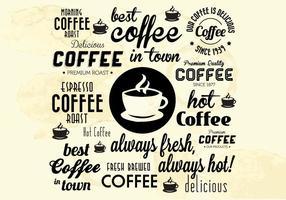 Meilleur café chaud coloré vecteur