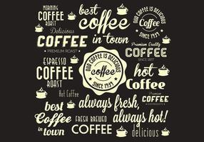 Vecteur fanatique du café