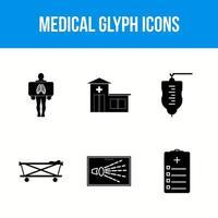 icônes de glyphe médical vecteur