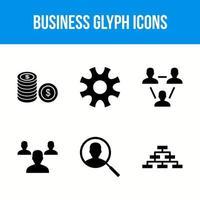 icônes de glyphe d & # 39; entreprise vecteur
