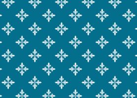 motif de tissu élégant bleu et blanc vecteur