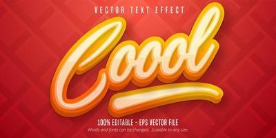 effet de texte modifiable de style calligraphie cool vecteur