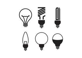 jeu d'icônes d'ampoule