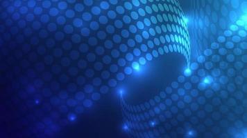 cercle et scintille éléments design bleu