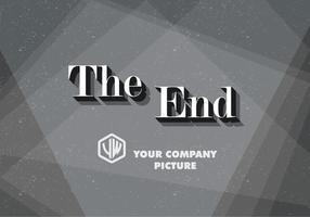 Serif le vecteur de carte de titre de fin