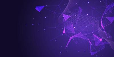 bannière abstraite violet low poly