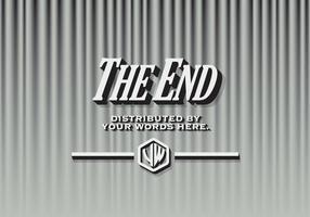 La fin vecteur rideaux noir et blanc