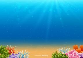 Fond marin sous-marin vecteur