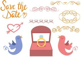 Vecteurs de mariage gratuits vecteur
