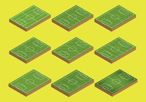 Vecteur libre d'icônes de terrain de football