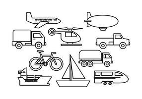 Vecteurs de transport gratuits vecteur