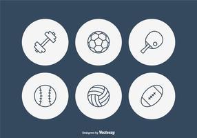 Icônes libres de vecteur de ligne de sport