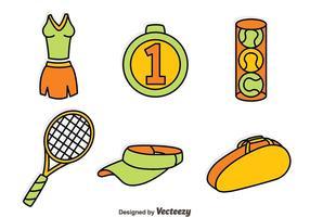 Ensemble de vecteur d'élément de tennis
