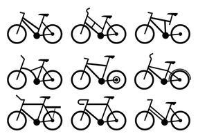 Icônes de bycicle vecteur
