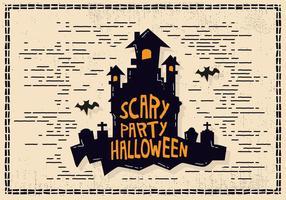 Illustration du château d'Halloween vecteur