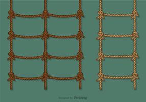 Ensemble de jeu d'échelle de corde libre vecteur