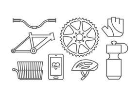 Vecteurs d'engrenages à vélo vecteur