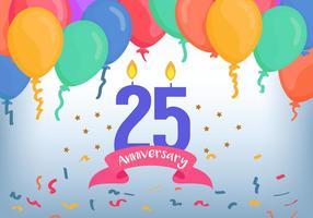 25 anniversaires vecteur