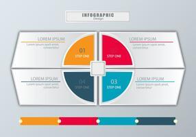 Conception infographique de style moderne vecteur