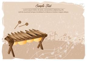 Modèle Marimba vecteur
