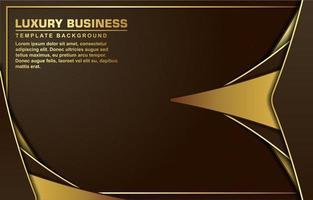 cadre doré de luxe avec des formes inclinées sur marron