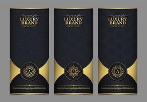 carte de visite de luxe et ensemble de modèles d'ornement vintage vecteur