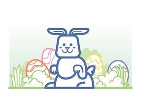 Vecteur de lapin de Pâques