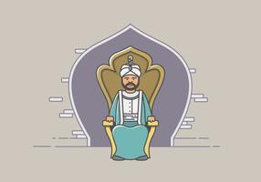 Sultan et le Royaume vecteur