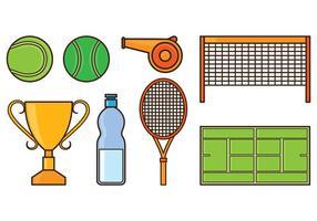 Ensemble d'icônes de tennis vecteur