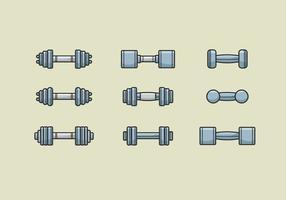 Icônes des vecteurs Dumbell