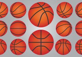 Ensemble de ballon de basketball vecteur