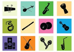 Silhouette de l'instrument de musique vecteur
