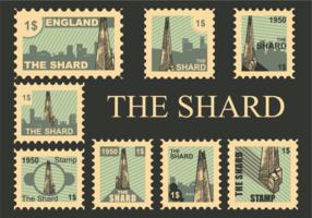 Le vecteur de timbres pelliculés